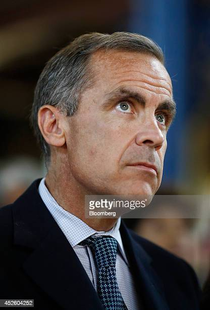 Mark Carney governor of the Bank of England sits and listens during the Commonwealth Games Business Conference in Glasgow UK on Wednesday July 23...