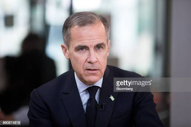Mark Carney governor of the Bank of England speaks during a Bloomberg Television interview at the One Planet Summit in Paris France on Tuesday Dec 12...