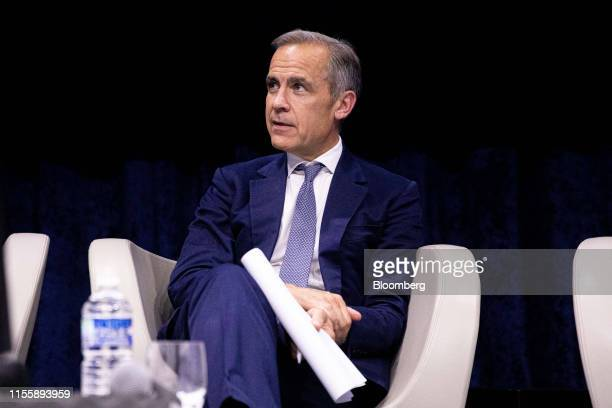 Mark Carney governor of the Bank of England takes part in a panel discussion during the 75th anniversary of the Bretton Woods system of monetary...
