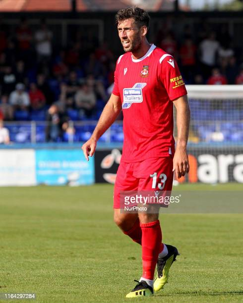 Mark Carrington of Wrexham during the Vanarama National League match between Hartlepool United and Wrexham at Victoria Park Hartlepool on Monday 26th...