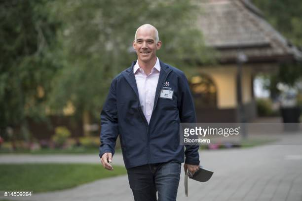 Mark Casey portfolio manager of Capital Group Research Inc arrives for the morning sessions during the Allen Co Media and Technology conference in...