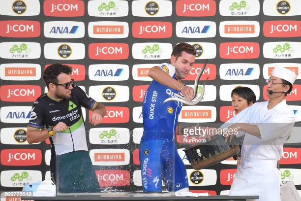 Mark Cavendish and Fabio SABATINI try to catch catch live eels fish during the 5th edition of TDF Saitama Criterium 2017 Media Day On Friday 3...