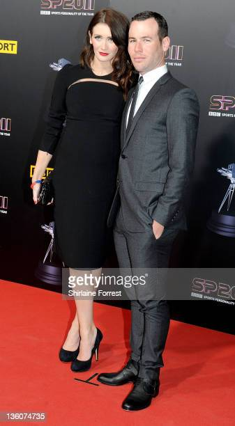 Mark Cavendish and girlfriend Peta Todd attend awards ceremony BBC Sports Personality of the Year 2011 at Media City UK on December 22 2011 in...