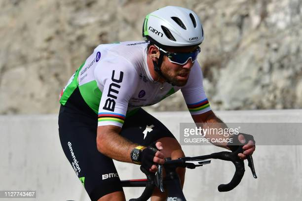 Mark Cavendish British rider for Dimension Data competes during the fourth stage of the UAE cycling tour in Hatta on February 27 2019
