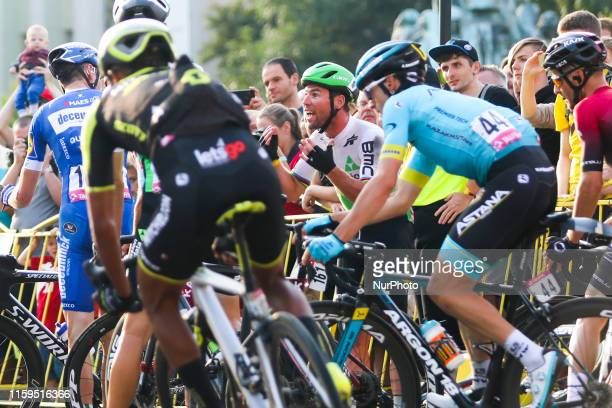 Mark Cavendish of Dimension Data crashes in final kilometres during the 76th Tour de Pologne 2019, Stage 1 on August 3, 2019 in Krakow, Poland.