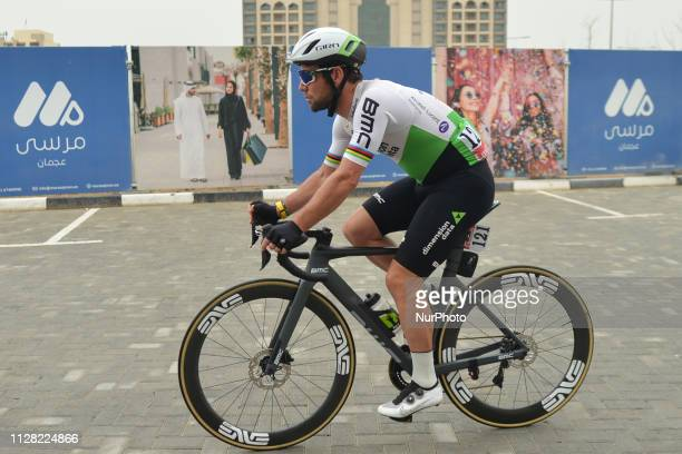 Mark Cavendish of Dimension Data Team seen at the start line of the sixth Rak Properties Stage of UAE Tour 2019 a 180km with a start from Ajman and...