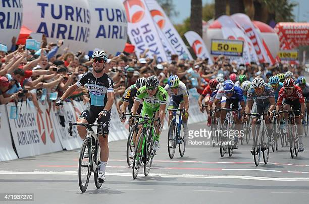 Mark Cavendish of Etixx Quick Step reacts after winning the Stage 7 of the 51st Presidential Cycling Tour of Turkey 2015 Selcuk Izmir on May 2 2015...