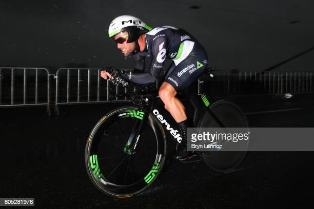 Mark Cavendish of Great Britain and Dimension Data competes during stage one of Le Tour de France 2017 a 14km individual time trial on July 1 2017 in...