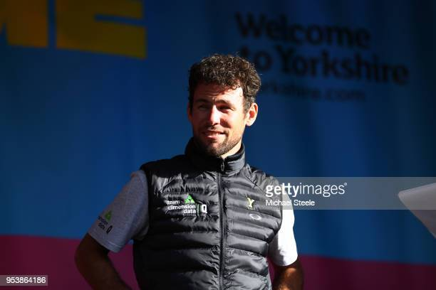 Mark Cavendish of Great Britain and Team Dimension Data / during the 4th Tour of Yorkshire 2018 Press Conference on May 2 2018 in York England