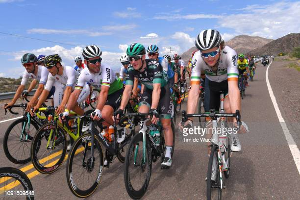 Mark Cavendish of Great Britain and Team Dimension Data / Sam Bennett of Ireland and Team BoraHansgrohe / Conor Dunne of Ireland and Team Israel...