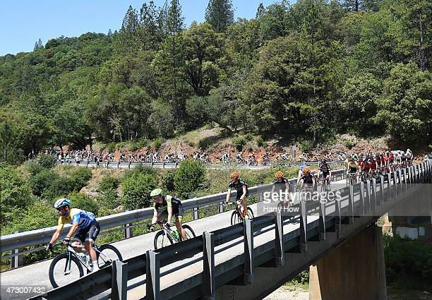 Mark Cavendish of Great Britain riding for Etixx Quickstep crosses a bridge during stage two of the 2015 AMGEN Tour of California from Nevada City to...