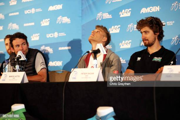 Mark Cavendish of Great Britian and Team Dimension Data, Marcel Kittel of Germany and Team Katusha Alpecin and Peter Sagan of Slovakia and Team...