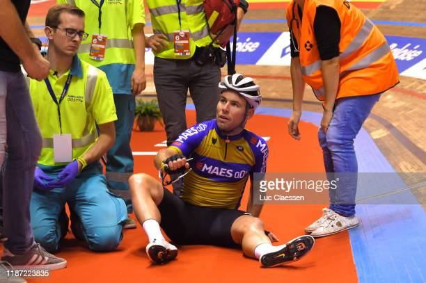 Mark Cavendish of The United Kingdon and Team The Wolfpack – Maes 0,0% / Crash / during the 79th 6 Days Gent 2019 - Day 1 / Track / Kuipke Track...
