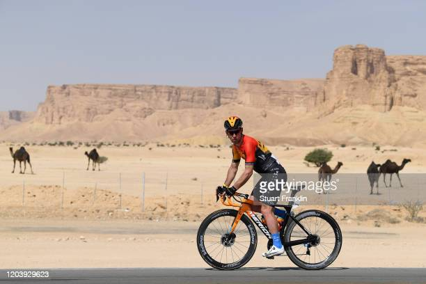 Mark Cavendish of United Kingdom and Team Bahrain-Mclaren / Camel / Desert / Landscape / during the 1st Saudi Tour 2020, Stage 1 a 173km stage from...