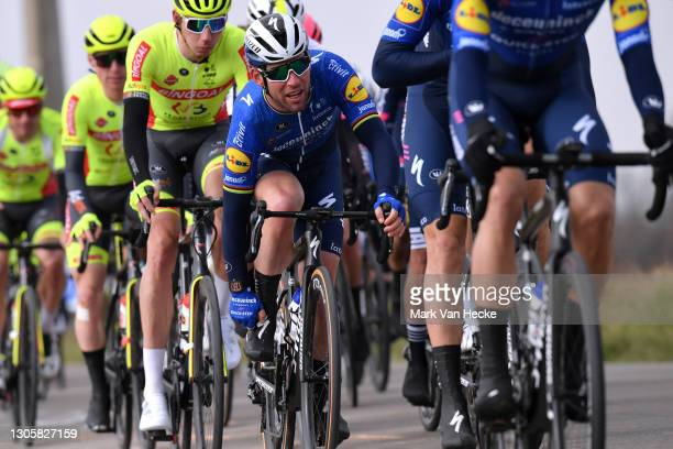 Mark Cavendish of United Kingdom and Team Deceuninck - Quick-Step during the 10th Grote Prijs Jean, Pierre Monseré 2021 a 202,1km stage from Hooglede...