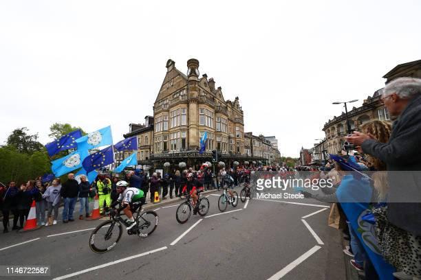 Mark Cavendish of United Kingdom and Team Dimension Data / Victor Lafay of France and Team Cofidis / Leonardo Basso of Italy and Team INEOS / Tom...