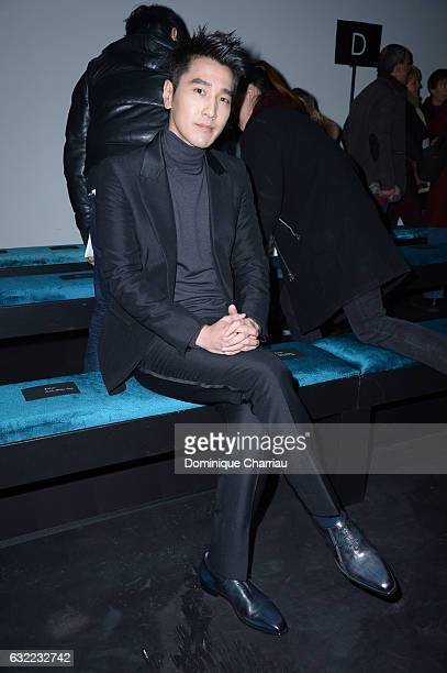 Mark Chao attends the Berluti Menswear Fall/Winter 20172018 show as part of Paris Fashion Week on January 20 2017 in Paris France