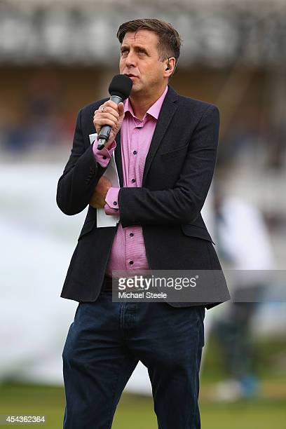 Mark Chapman BBC radio and television presenter during the third Royal London OneDay Series match between England and India at Trent Bridge on August...