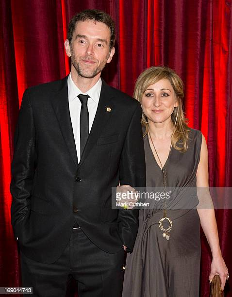Mark Charnock and Charlotte Bellamy attend the British Soap Awards at Media City on May 18 2013 in Manchester England
