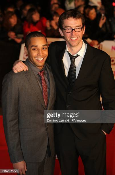 Mark Charnock and Samuel Anderson arrive for the 2008 National Television Awards at the Royal Albert Hall Kensington Gore SW7