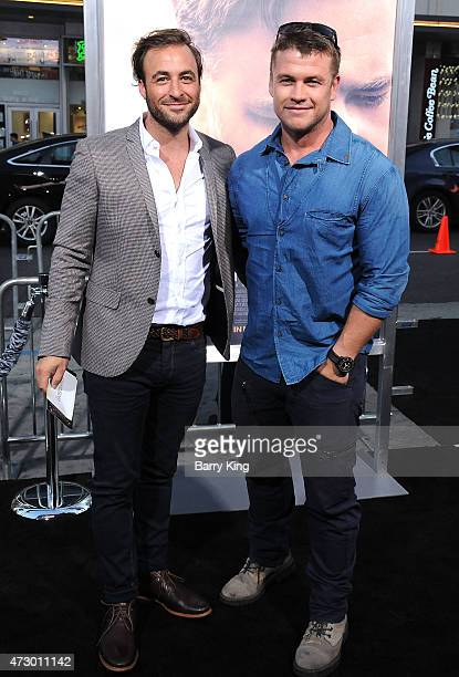 Mark Chaz and actor Luke Hemsworth attend the premiere of 'The Water Diviner' at TCL Chinese Theatre IMAX on April 16 2015 in Hollywood California