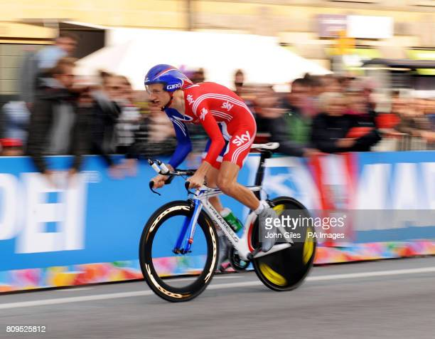 Mark Christian of Great Britain rides in the Men's Under 23 Time Trial during Day One of the UCI Road Race World Championships Copenhagen