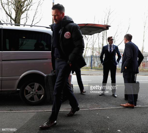 Mark Clatternburg arrives at the stadium prior to the Premier League match between West Bromwich Albion and Crystal Palace at The Hawthorns on March...