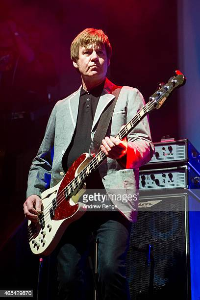 Mark Collins of The Charlatans performs on stage at Albert Hall on March 6 2015 in Manchester United Kingdom