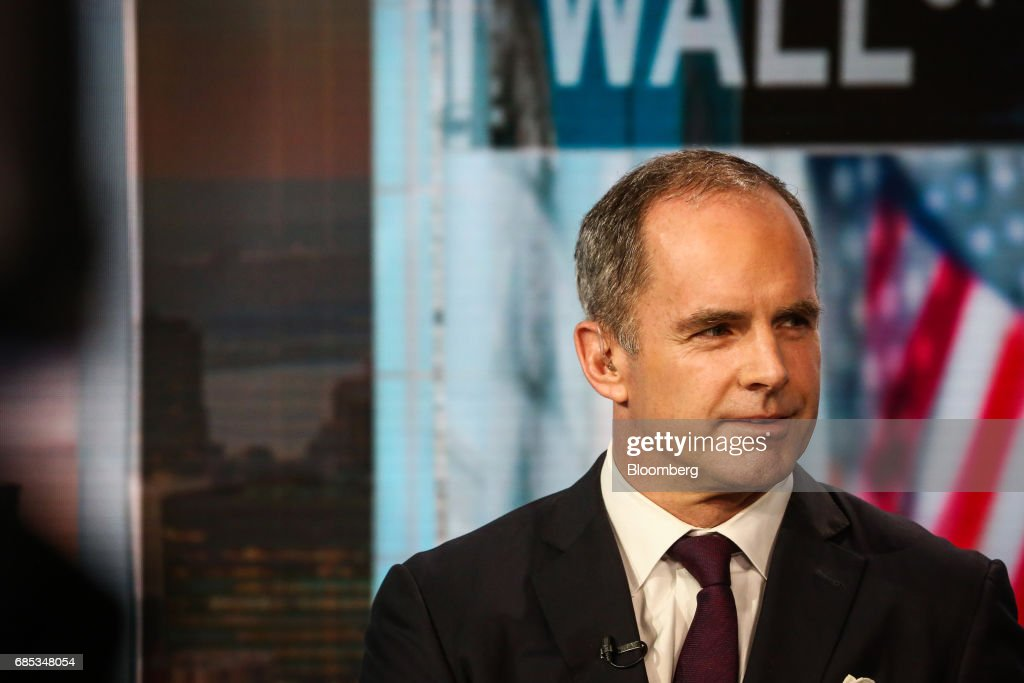 Mark Connors, global head of risk advisory at Credit Suisse Securities LLC, listens during a Bloomberg Television interview in New York, U.S., on Friday, May 19, 2017. Connors discussed the state of the hedge funds industry. Photographer: Christopher Goodney/Bloomberg via Getty Images
