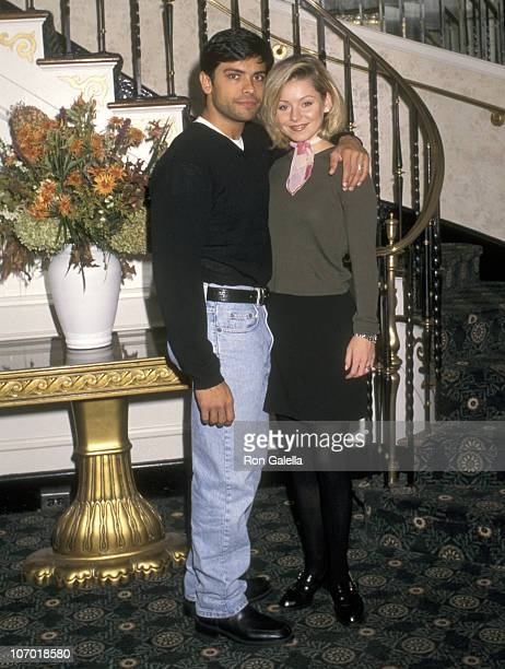 Mark Consuelos and Kelly Ripa during Celebrity Brunch and Auction for the Melissa Neier Memorial Fund November 2 1997 at Mayfair Farms in West Orange...