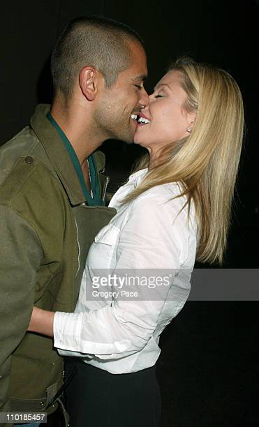 Mark Consuelos and wife Kelly Ripa after the show