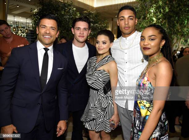 Mark Consuelos Casey Cott Sarah Jeffrey Daniel Ezra and China Anne McClain attend The CW Network's 2018 upfront party at Avra Madison Estiatorio on...