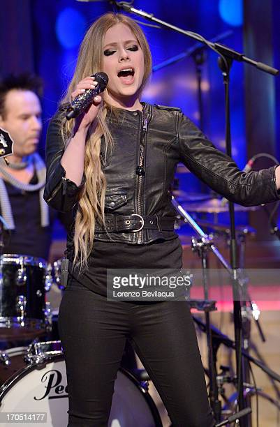 "Mark Consuelos is Kelly's co-host and Avril Lavigne performs on ""LIVE with Kelly and Michael,"" distributed by Disney-Walt Disney Television via Getty..."