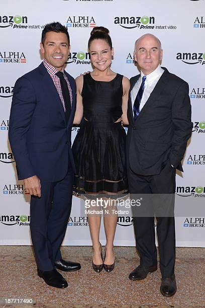 Mark Consuelos Yara Martinez and Matt Malloy attend Amazon Studios Premiere Screening for 'Alpha House' on November 11 2013 in New York City