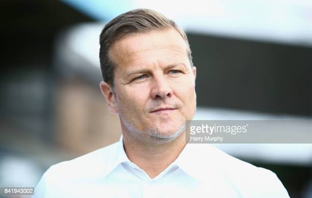 Mark Cooper Head Coach of Forest Green Rovers looks on prior to the Sky Bet League Two match between Wycombe Wanderers and Forest Green Rovers at...