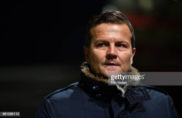Mark Cooper manager of Forest Green Rovers prior to the Emirates FA Cup Second Round Replay between Exeter City and Forest Green at St James Park on...