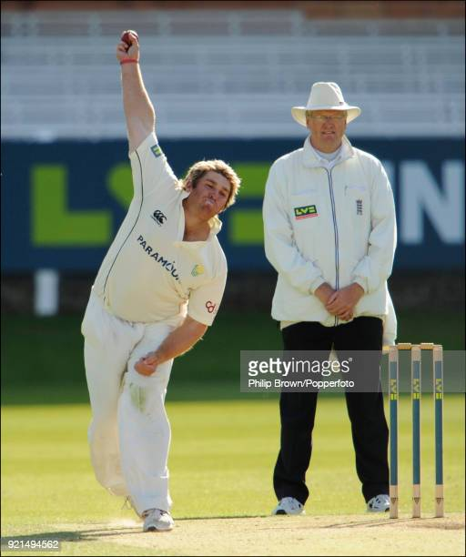 Mark Cosgrove bowling for Glamorgan during the LV County Championship match between Middlesex and Glamorgan at Lord's Cricket Ground London 25th...