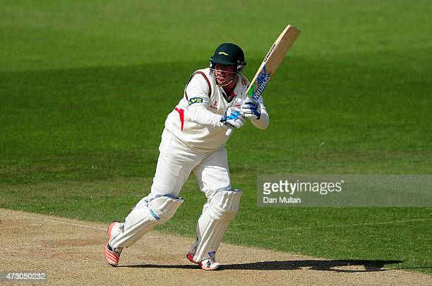 Mark Cosgrove of Leicestershire bats during day three of the LV County Championship match between Surrey and Leicestershire at The Kia Oval on May 12...