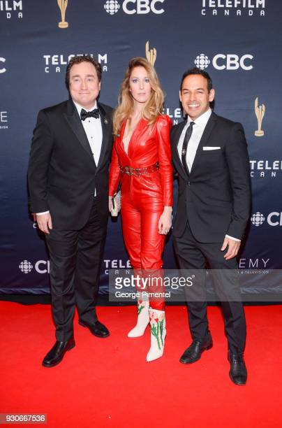 Mark Critch Susan Kent and Shaun Majumder arrive at the 2018 Canadian Screen Awards at the Sony Centre for the Performing Arts on March 11 2018 in...