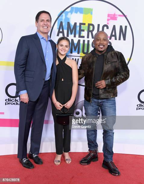 Mark Cuban Alyssa Cuban Daymond John attend the 2017 American Music Awards at Microsoft Theater on November 19 2017 in Los Angeles California