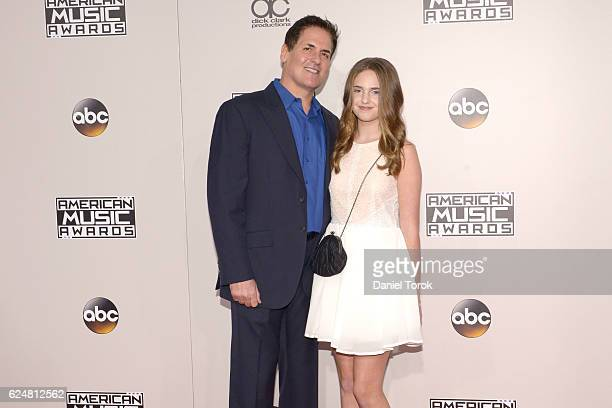 Mark Cuban and Alyssa Cuban arrive at the 2016 American Music Awards at Microsoft Theater on November 20 2016 in Los Angeles California