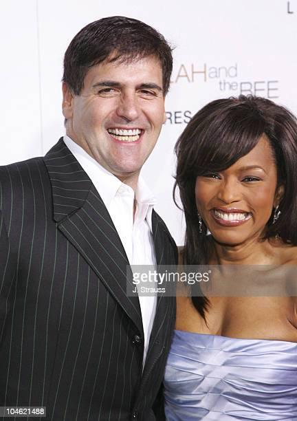 Mark Cuban and Angela Bassett during Akeelah and the Bee Los Angeles Premiere Arrivals at The Academy of Motion Picture Arts and Sciences in Beverly...