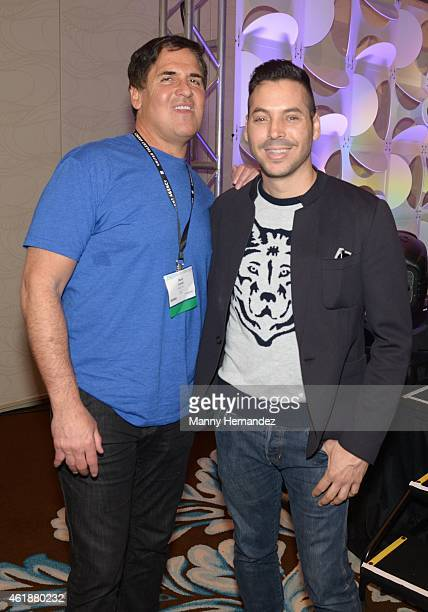 Mark Cuban and Jorge Moreno attends NATPE Conference at Fontainebleau Miami Beach on January 20, 2015 in Miami Beach, Florida.
