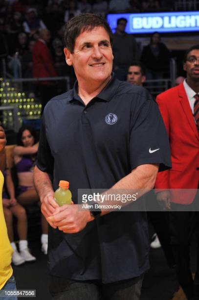 Mark Cuban attends a basketball game between the Los Angeles Lakers and the Dallas Mavericks at Staples Center on October 31 2018 in Los Angeles...