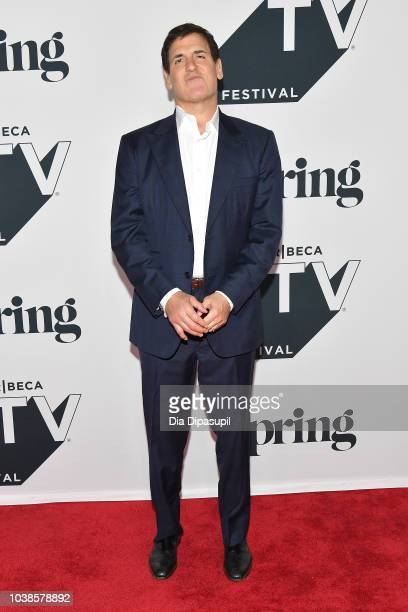 Mark Cuban attends the Tribeca Talks Panel 10 Years Of Shark Tank during the 2018 Tribeca TV Festival at Spring Studios on September 23 2018 in New...