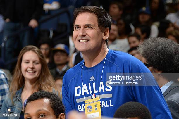 Mark Cuban Owner of the Dallas Mavericks attends a game between the Golden State Warriors and the Dallas Mavericks at Oracle Arena on February 4 2015...