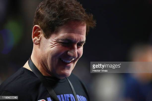 Mark Cuban, owner of the Dallas Mavericks looks on prior a game between Dallas Mavericks and Detroit Pistons at Arena Ciudad de Mexico on December...