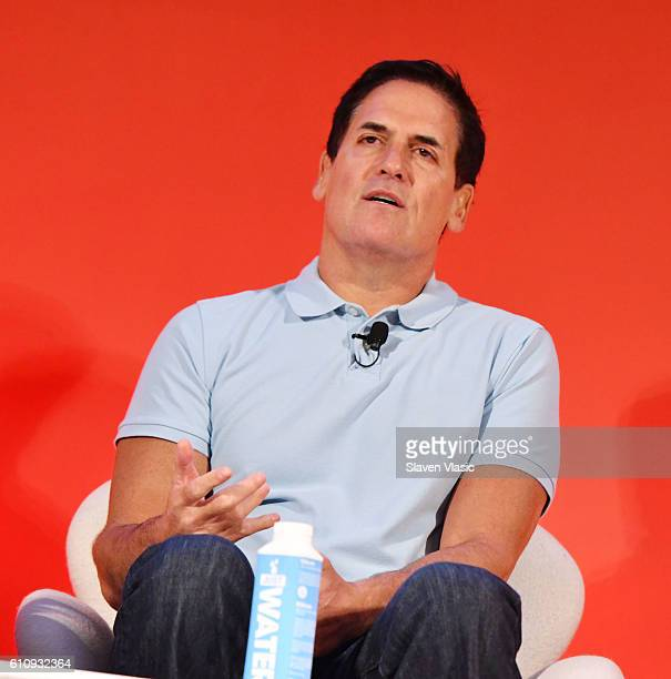 Mark Cuban speaks onstage during the THRIVE with Arianna Huffington panel at The Town Hall during 2016 Advertising Week New York on September 28 2016...