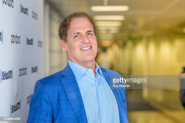 Mark Cuban visits Heather B Live with host Heather B Gardner at SiriusXM Studios on February 25 2020 in New York City