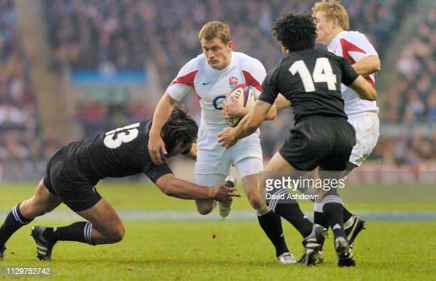 Mark Cueto England v New Zealand Rugby Union international at Twickenham Stadium 18th November 2005.